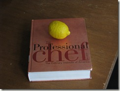 That's a pretty big lemon, but it's also an ENORMOUS book.