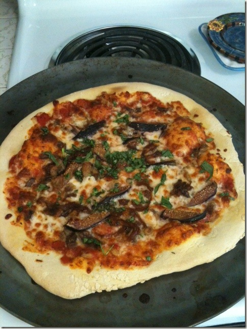 Duck and figgy pizza