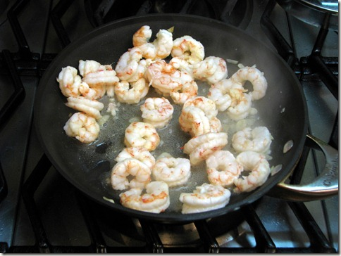 Of course, we don't care whether or not the shrimp curl up, now do we?  We're making a ravioli filling; the shrimp are invisible.