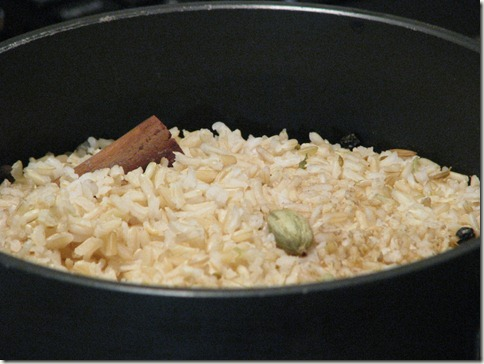 This here is what the rice looks like when it's done.